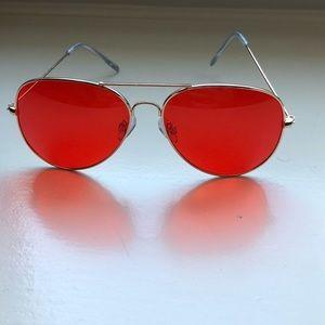Accessories - red aviator sunglasses